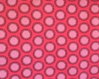 cotton fabric OOP Soul Blossom disco flower Hot Pink by Amy Butler