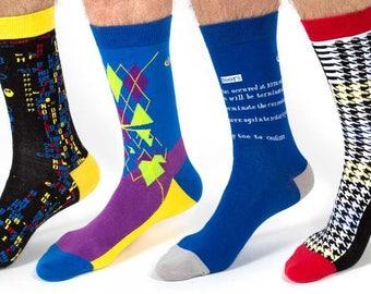 Glitch Socks 4 Pack / Original Glitch Art and Tributes To Classic Glitches In Games