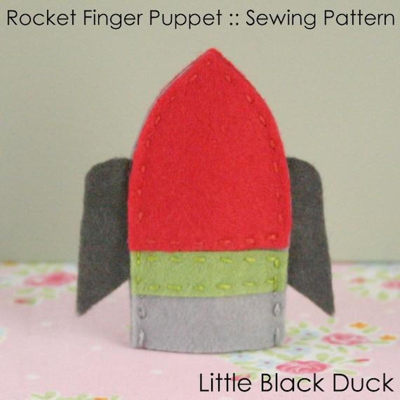 Pattern: Rocket Felt Finger Puppet