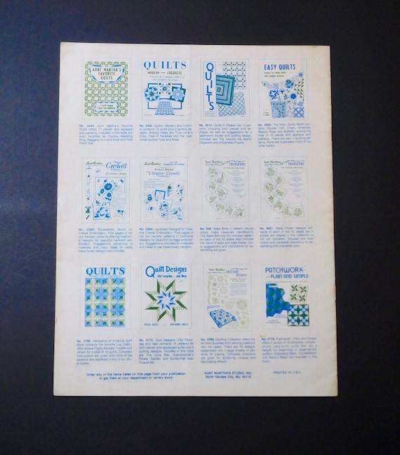 Bold /& Beautiful Patchwork Aunt Marthas Quilt Patterns