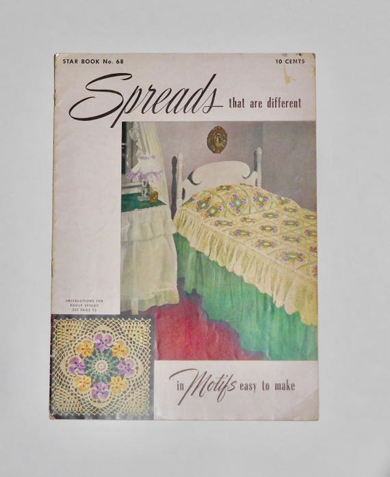 Spreads That Are Different In Motifs Easy To Make 1949 Star Etsy