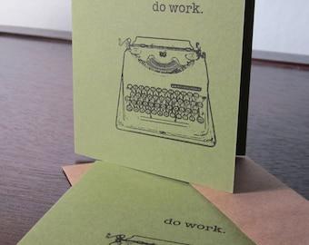 Funktionieren - grün 6-Pack Gocco Siebdruck Grußkarten