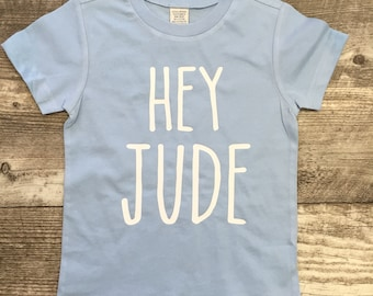 95a98994732c Boys Light Blue Hey Jude Beatles short Sleeve T Shirt modern graphic trendy  TSLM Kids Toddler Girl Unisex