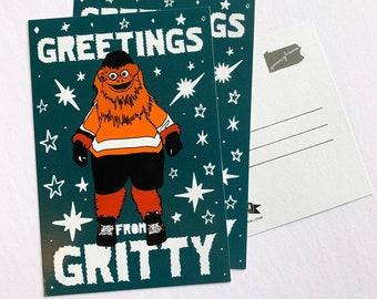 Philadelphia Gritty Postcard Set - 3 Philly Flyers Pennsylvania PA Postcards Souvenir Souvenirs