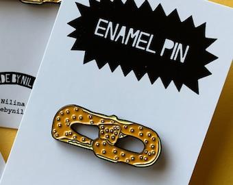 Philly Pretzel Enamel Pin -  Philadelphia PA 1.25 inches