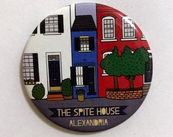 Alexandria Spite House Magnet - Virginia VA Landmark Home Icon Souvenir