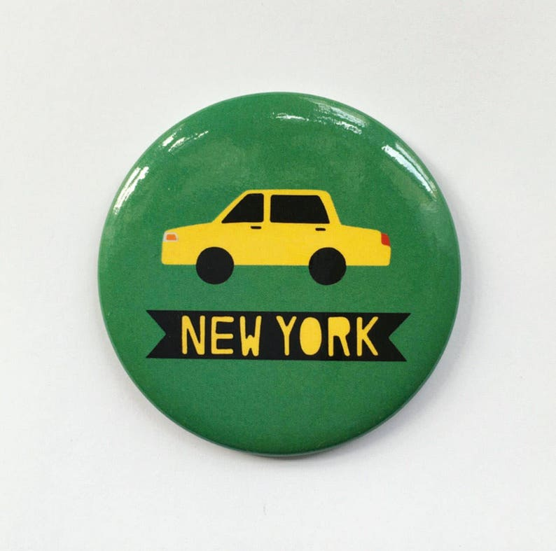 New York City Yellow Taxi Cab NYC Green Magnet