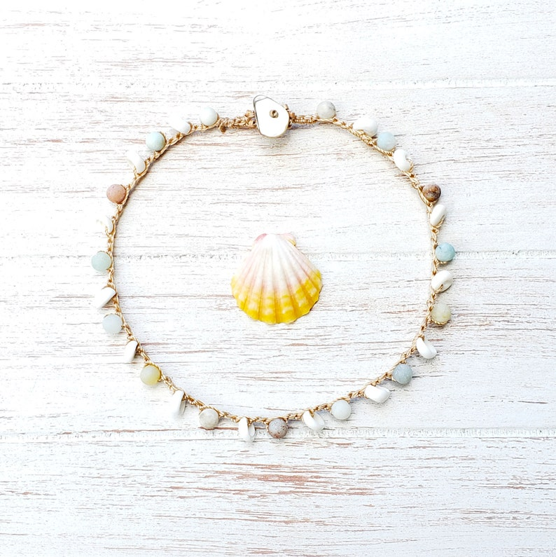 Mermaid Lover Beach Anklet Summer Shell Jewelry Beaded image 0