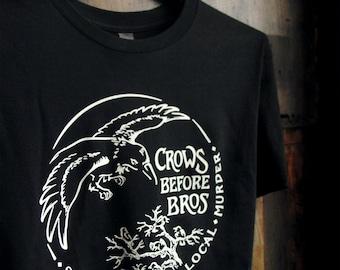 Crows Before Bros Unisex Organic Cotton Crew Neck Tee