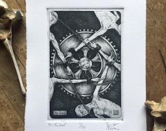 15: The Devil - limited edition fine art intaglio etching