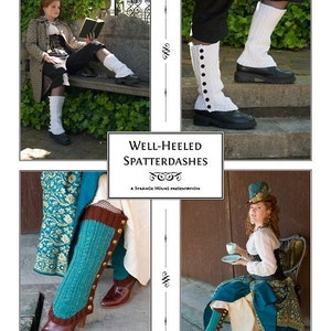 Spats, Gaiters, Puttees – Vintage Shoes Covers Well-Heeled Spatterdashes knitting pattern $6.03 AT vintagedancer.com