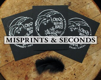 SECONDS SALE Crows Before Bros - Screen Printed Fine Art Print