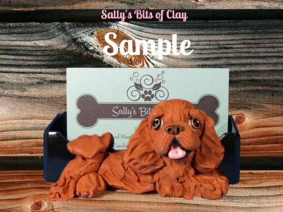 Ruby Cavalier King Charles Spaniel Business Card Holder    35b3af929e
