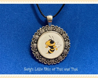 READY to sHIP Georgia GA Tech NCAA necklace unique necklace hand crafted by Sally