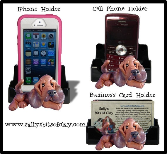 Bloodhound Dog Holder For Cell Phone Ipod Iphone Or Business Etsy
