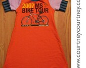 on reserve COURTNEYCOURTNEY safety bicycle 5T recycled tshirt dress