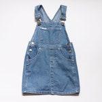 vintage 1990s 90s Cherokee jean girls dress denim 4T 4 overall apron style