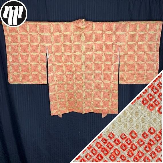 Woman's Shibori Haori Vintage Japanese Silk Kimono