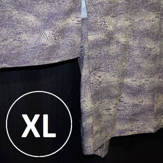 Woman/'s XL Kimono Jacket Vintage Japanese Plus Size Haori Mauve Batik