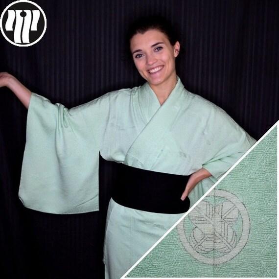 Iromuji Kimono Vintage Japanese Woman's Silk Tea C
