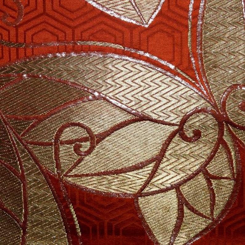 Gold Butterflies Obi Kimono Belt Vintage Japanese Fukuro Style Silk Obi Sash