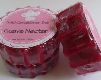 Guava Nectar Solid Hair Conditioner Bar Health & Beauty Hair Care Styling Conditioner Zero Waste