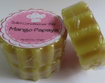 Mango Papaya Solid Hair Conditioner Bar Health & Beauty Hair Care Styling Conditioner Zero Waste