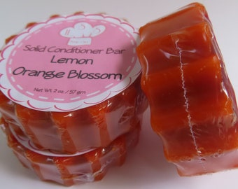 Lemon Orange Blossom Solid Hair Conditioner Bar Health & Beauty Hair Care Styling Conditioner Zero Waste