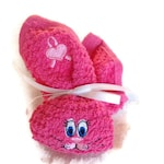 Boo Boo Bunny Pink Heart / HOT PINK Boo-boo Bunny Rabbit / Embroidered  Breast Cancer Boo-boo Bunny / Ice Pack Bunny