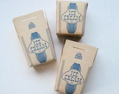 Vintage Paper Ice Cream Boxes 4th of July or Wedding Table Centerpieces