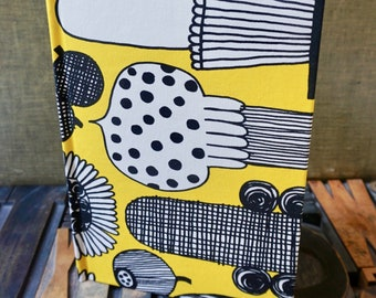 Recipe Book - With a Bright Yellow and Black Vegetable Themed Cover