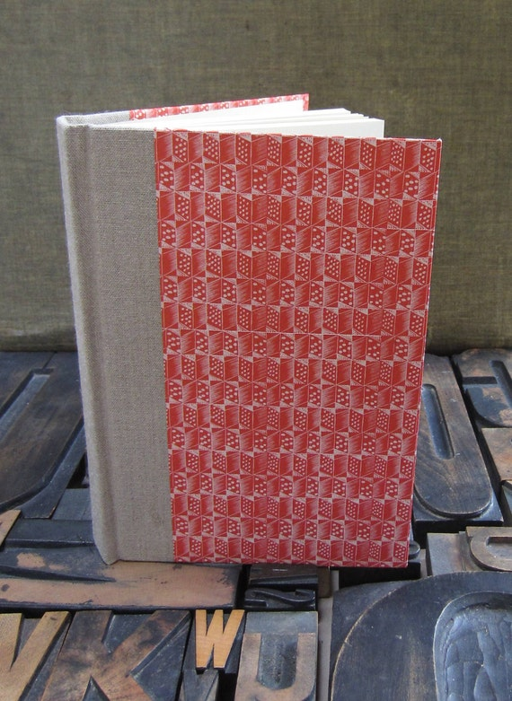 Journal - Small Blank Red Enid Marx Pattern Paper
