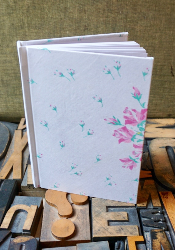 Journal - Small Blank - Floral Pattern - Handkerchief Covered