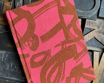 Small Lined Fabric Covered Journal - Abstract