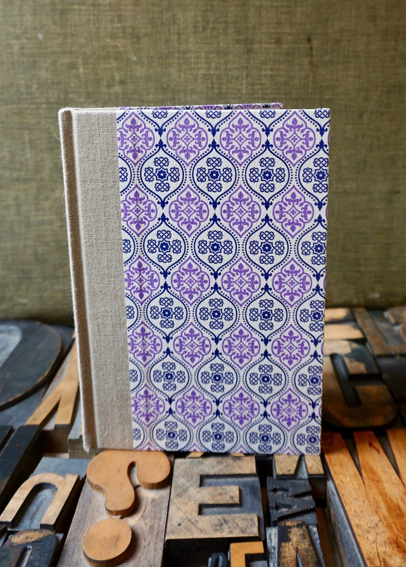 Journal / Large Blank / Purple and Blue Mosaic image 0