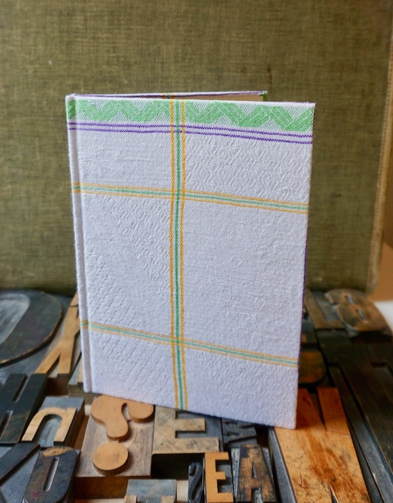 Recipe Journal - Vintage Striped Linen Cover