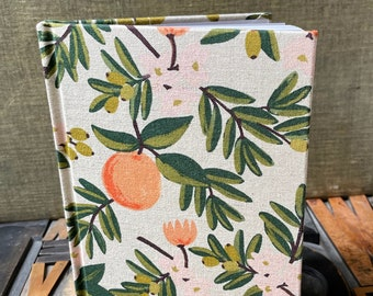 Journal Large Lined Fabric Covered with Rifle Paper Citrus Blossom