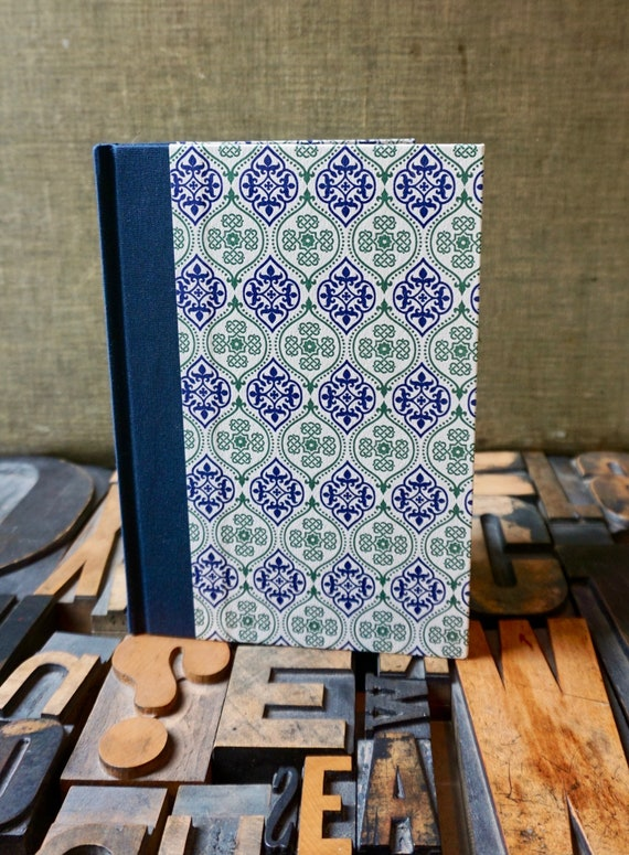 Journal - Large Blank - Blue and Green Mosaic Pattern