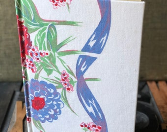 Recipe Journal Made from a 1950s Floral Vintage Tablecloth