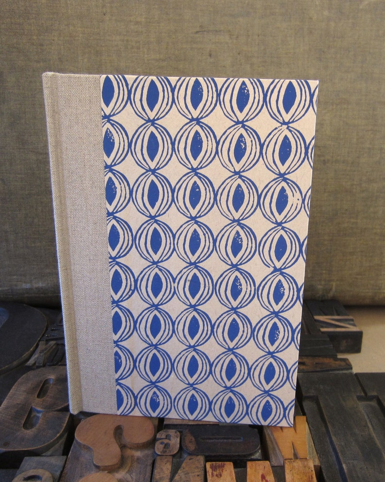 Journal / Large Lined / Blue Onion / Abstract image 0