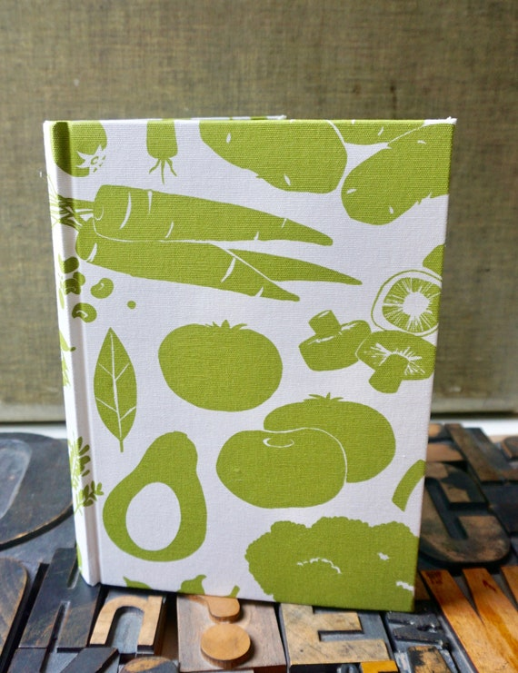 Recipe Book - Vegetable  Themed,  Fabric Cover