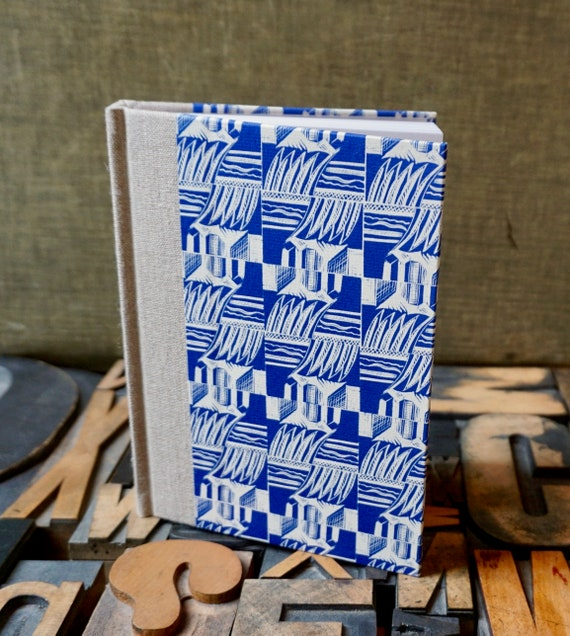Journal - Small Lined with Blue Enid Marx Paper