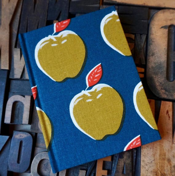 Fabric Covered Journal - Apple Pattern - Small Blank