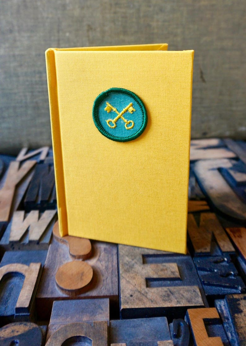 Girl Scout Badge Handbound Journal   Housekeeper Badge image 0