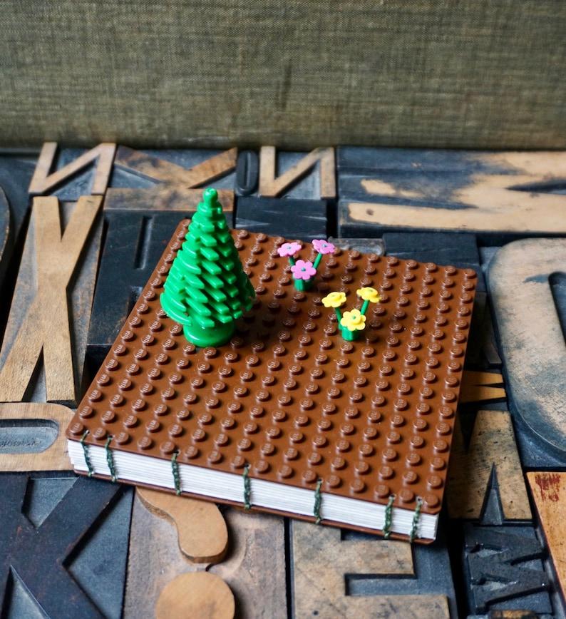 Small Coptic Handbound Journal Made with LEGO® Building Bricks image 0
