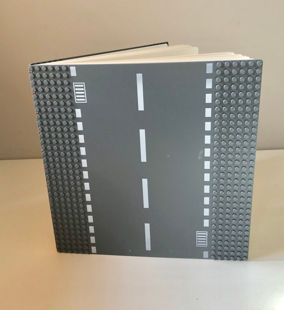 Build Your Own Cover Journal- Large with Gray Road Plates