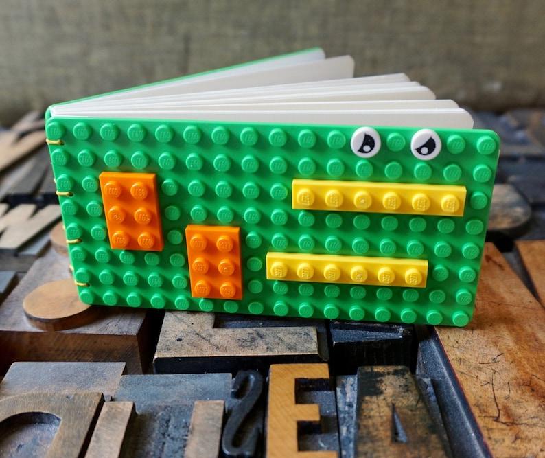 Mini Coptic Handbound Journal Made with LEGO® Building Bricks image 0