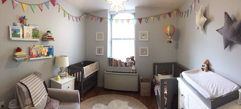 Kids Room Decor CUSTOM 40 Foot solids Bunting Wedding Party image 0