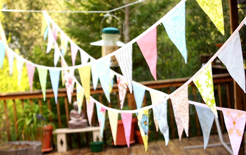 Event Bunting 75 Feet of flags Custom Bridal Flag Banner image 0