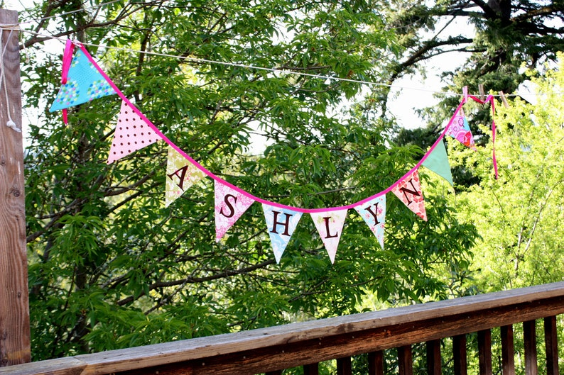 Custom Bunting 13 Flag Personalized Banner Garland You image 0